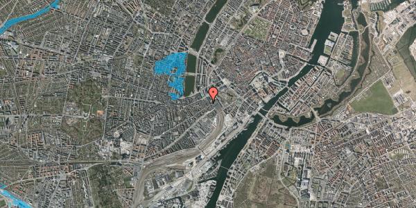Oversvømmelsesrisiko fra vandløb på Reventlowsgade 12B, 1. , 1651 København V