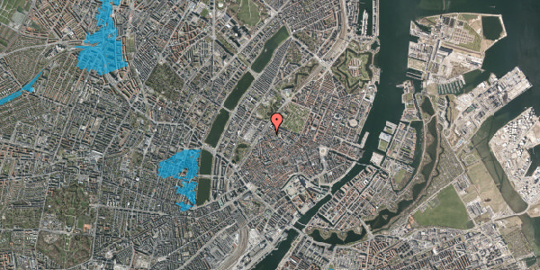 Oversvømmelsesrisiko fra vandløb på Rosenborggade 2, 1. tv, 1130 København K