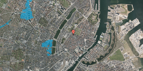Oversvømmelsesrisiko fra vandløb på Rosenborggade 8, st. tv, 1130 København K