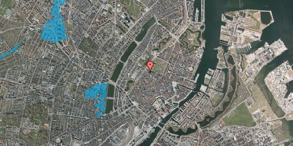 Oversvømmelsesrisiko fra vandløb på Rosenborggade 9, 1. , 1130 København K