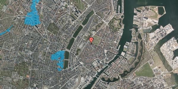 Oversvømmelsesrisiko fra vandløb på Rosenborggade 12, 2. th, 1130 København K