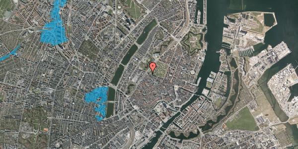 Oversvømmelsesrisiko fra vandløb på Rosenborggade 19, kl. , 1130 København K