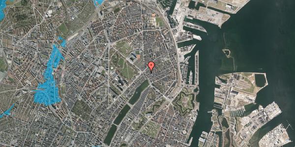 Oversvømmelsesrisiko fra vandløb på Rosenvængets Allé 3, 2. th, 2100 København Ø