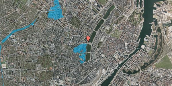 Oversvømmelsesrisiko fra vandløb på Rosenørns Allé 8, 1. 1, 1634 København V