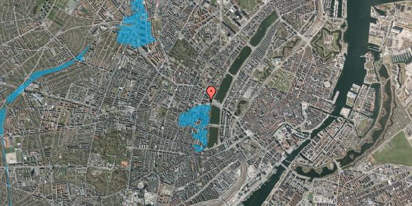 Oversvømmelsesrisiko fra vandløb på Rosenørns Allé 10C, 6. th, 1634 København V