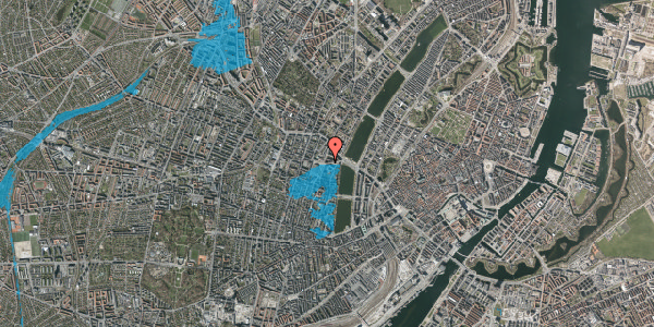 Oversvømmelsesrisiko fra vandløb på Rosenørns Allé 16, 4. , 1634 København V