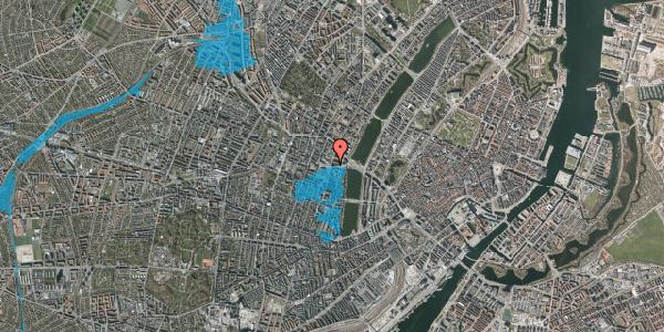 Oversvømmelsesrisiko fra vandløb på Rosenørns Allé 18, kl. tv, 1634 København V
