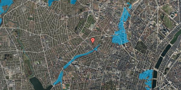 Oversvømmelsesrisiko fra vandløb på Rønnebærvej 2, st. th, 2400 København NV