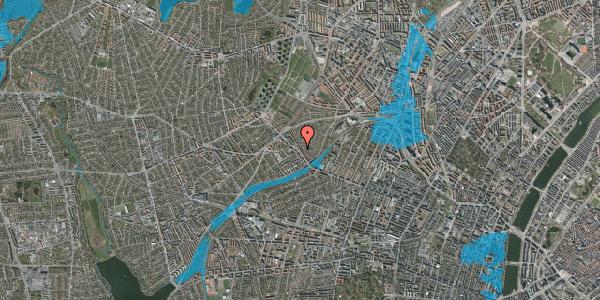 Oversvømmelsesrisiko fra vandløb på Rønnebærvej 2, 1. th, 2400 København NV
