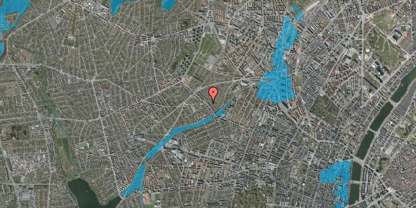 Oversvømmelsesrisiko fra vandløb på Rønnebærvej 2, 2. th, 2400 København NV