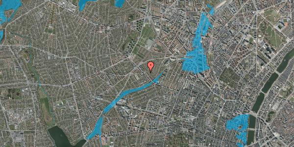Oversvømmelsesrisiko fra vandløb på Rønnebærvej 4, st. th, 2400 København NV
