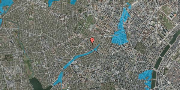 Oversvømmelsesrisiko fra vandløb på Rønnebærvej 4, 1. th, 2400 København NV
