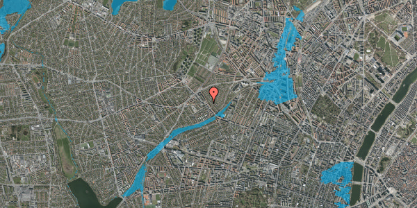Oversvømmelsesrisiko fra vandløb på Rønnebærvej 4, 2. tv, 2400 København NV