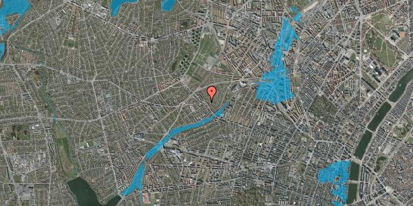 Oversvømmelsesrisiko fra vandløb på Rønnebærvej 6, 1. th, 2400 København NV
