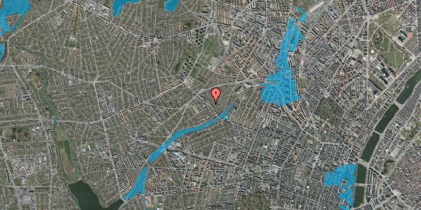 Oversvømmelsesrisiko fra vandløb på Rønnebærvej 6, 2. th, 2400 København NV