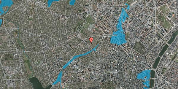 Oversvømmelsesrisiko fra vandløb på Rønnebærvej 8, 2. tv, 2400 København NV
