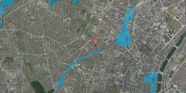 Oversvømmelsesrisiko fra vandløb på Rønnebærvej 10, st. tv, 2400 København NV