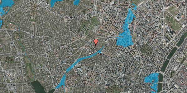 Oversvømmelsesrisiko fra vandløb på Rønnebærvej 10, 1. th, 2400 København NV