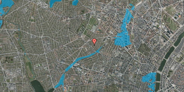 Oversvømmelsesrisiko fra vandløb på Rønnebærvej 12, st. tv, 2400 København NV