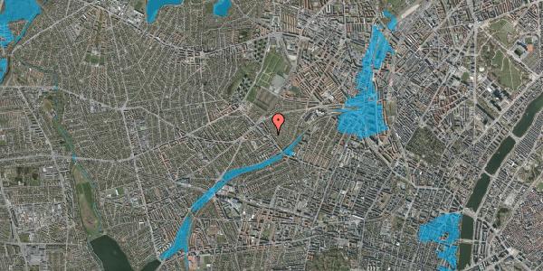 Oversvømmelsesrisiko fra vandløb på Rønnebærvej 12, 2. tv, 2400 København NV
