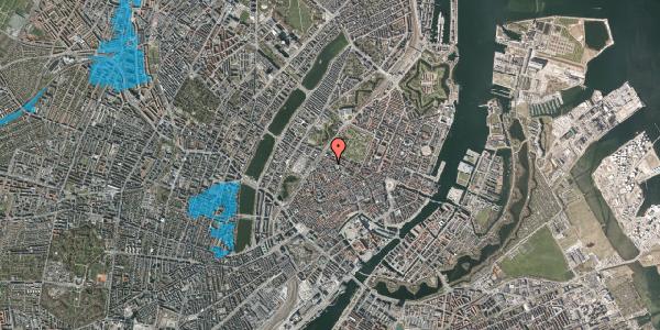 Oversvømmelsesrisiko fra vandløb på Sankt Gertruds Stræde 6E, 2. tv, 1129 København K