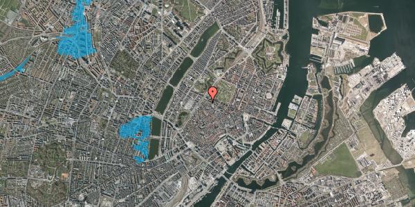 Oversvømmelsesrisiko fra vandløb på Sankt Gertruds Stræde 8B, 1. tv, 1129 København K