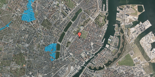 Oversvømmelsesrisiko fra vandløb på Sankt Gertruds Stræde 10, st. 3, 1129 København K