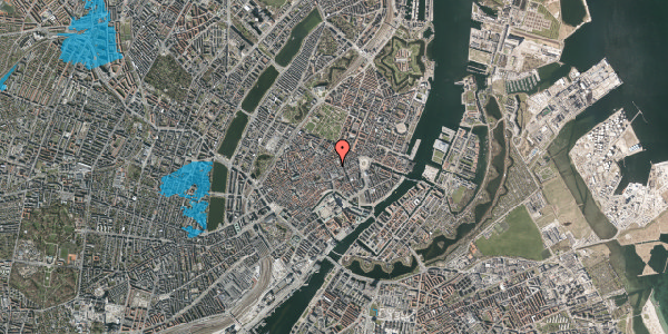 Oversvømmelsesrisiko fra vandløb på Silkegade 17, 2. th, 1113 København K