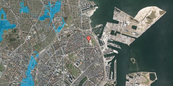 Oversvømmelsesrisiko fra vandløb på Sionsgade 5E, 2100 København Ø