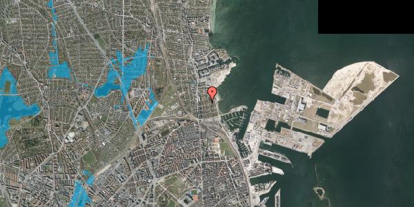 Oversvømmelsesrisiko fra vandløb på Solvænget 11, 2100 København Ø