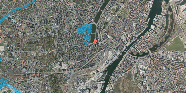 Oversvømmelsesrisiko fra vandløb på Stenosgade 1, 5. , 1616 København V