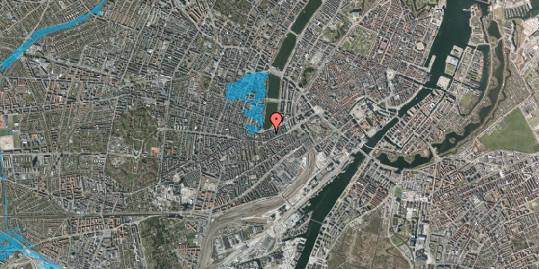 Oversvømmelsesrisiko fra vandløb på Stenosgade 7, kl. 3, 1616 København V