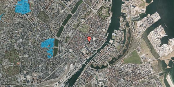 Oversvømmelsesrisiko fra vandløb på Store Kirkestræde 1, st. 1, 1073 København K