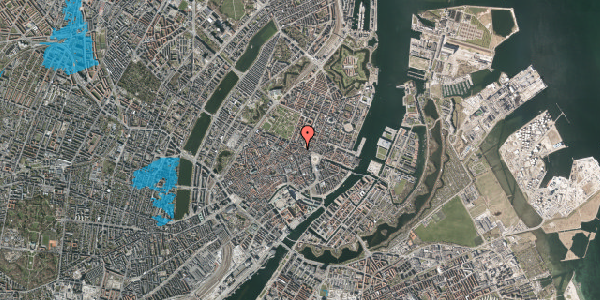 Oversvømmelsesrisiko fra vandløb på Store Regnegade 26C, 1. tv, 1110 København K