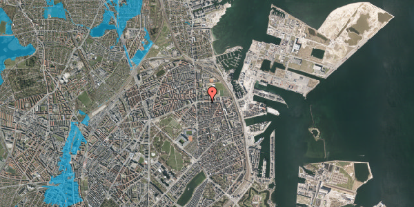 Oversvømmelsesrisiko fra vandløb på Strandboulevarden 137, 3. th, 2100 København Ø