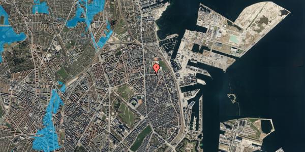 Oversvømmelsesrisiko fra vandløb på Strandboulevarden 137, 5. tv, 2100 København Ø