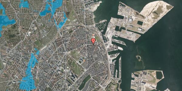 Oversvømmelsesrisiko fra vandløb på Strandboulevarden 139, 5. tv, 2100 København Ø