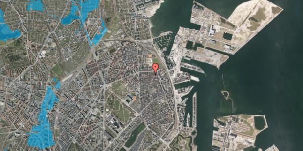 Oversvømmelsesrisiko fra vandløb på Svendborggade 1, 3. 42, 2100 København Ø