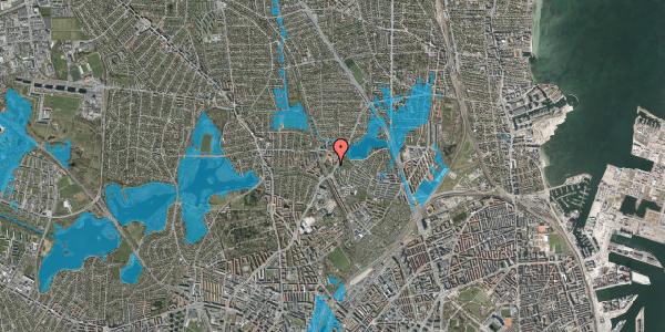 Oversvømmelsesrisiko fra vandløb på Tuborgvej 166, st. , 2400 København NV
