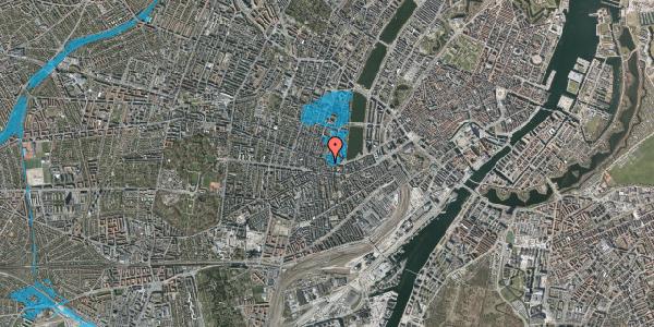 Oversvømmelsesrisiko fra vandløb på Tullinsgade 3, 3. tv, 1618 København V