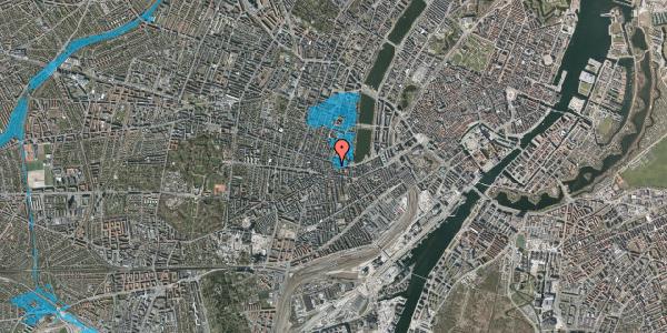 Oversvømmelsesrisiko fra vandløb på Tullinsgade 3, 5. tv, 1618 København V