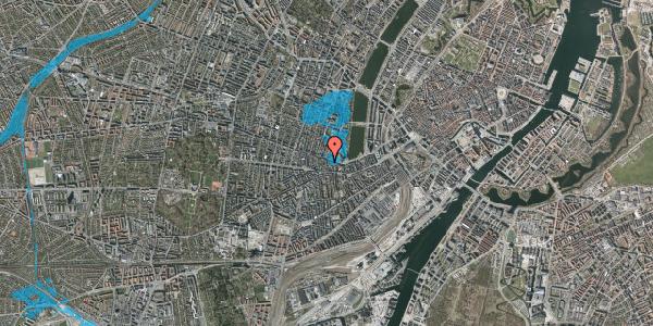 Oversvømmelsesrisiko fra vandløb på Tullinsgade 4, 3. th, 1618 København V