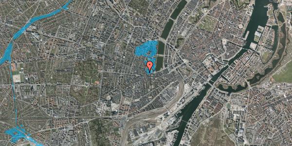 Oversvømmelsesrisiko fra vandløb på Tullinsgade 4, 3. tv, 1618 København V