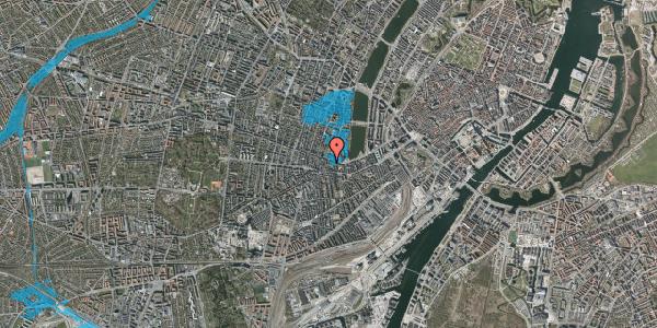 Oversvømmelsesrisiko fra vandløb på Tullinsgade 5, 3. th, 1618 København V