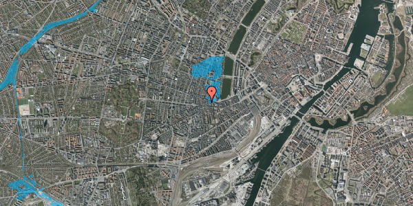 Oversvømmelsesrisiko fra vandløb på Tullinsgade 8, 2. th, 1618 København V