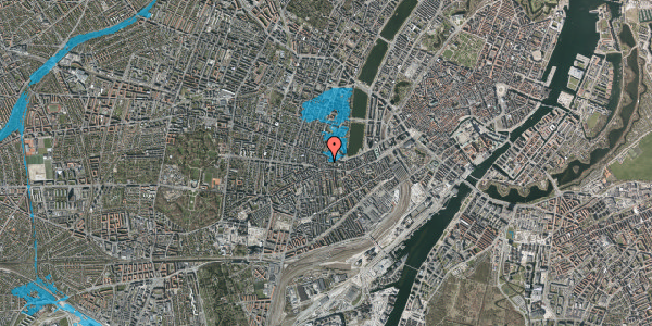 Oversvømmelsesrisiko fra vandløb på Tullinsgade 21, 3. th, 1618 København V