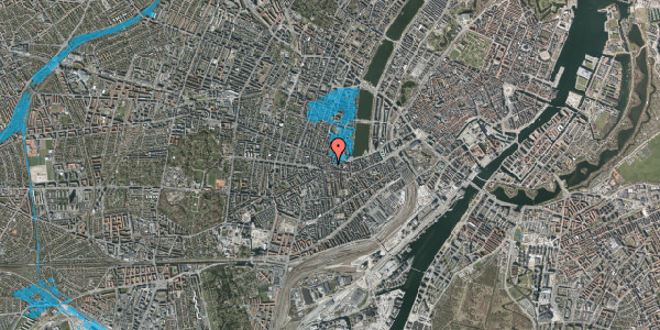 Oversvømmelsesrisiko fra vandløb på Tullinsgade 23, 2. tv, 1618 København V