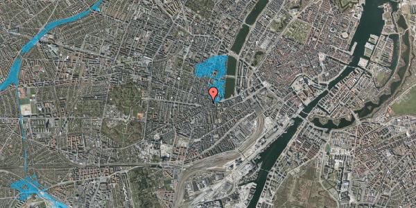 Oversvømmelsesrisiko fra vandløb på Tullinsgade 25, 3. th, 1618 København V