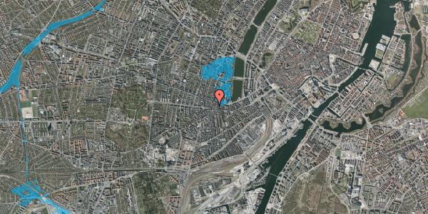 Oversvømmelsesrisiko fra vandløb på Tullinsgade 27, 4. th, 1618 København V