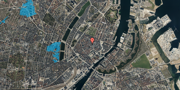 Oversvømmelsesrisiko fra vandløb på Valkendorfsgade 13, st. 1, 1151 København K